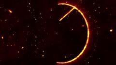 4K Pentagram Symbol with Revealing Satan Face v2 2 Stock Footage