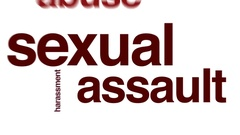 Sexual assault animated word cloud. Stock Footage