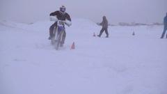 Motocross, winter training Stock Footage