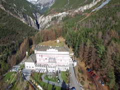 Bormio Therme - Thermal waters in Valtellina - Aerial view Stock Footage