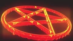 4K Pentagram on Fire Magic Symbol 3D Animation 5 Stock Footage