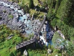 Hiker on path - Trekking in mountain Stock Footage