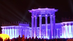 Festival The Circle of light at VDNKh Stock Footage