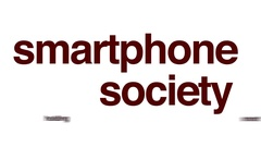 Smartphone society animated word cloud. Stock Footage