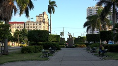 Avenue of the presidents in Havana  Salvador Allende Monument. Cuba Stock Footage