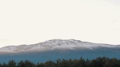 Steady View of Snowy Mountain Peak Stock Footage