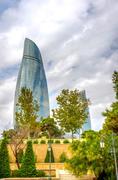 Flame towers, Baku, Azerbaijan Stock Photos
