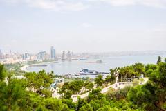 View over Baku, Azerbaijan Stock Photos