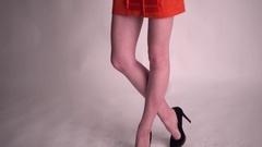 Girl Model posing for Fashion Photo Session Studio Stock Footage