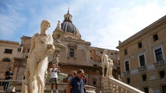 Palermo Piazza Pretoria, also known as square of Shame Stock Footage
