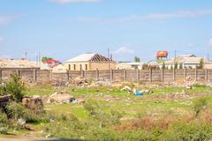 Baku suburbs, Azerbaijan Stock Photos
