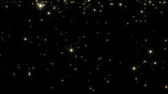 Golden glowing star particle background motion Stock Footage