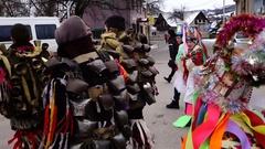 XI ethno festival betlegemov Christmas carols and in the Great Bychkov Stock Footage