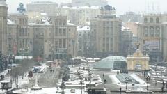 Kyiv, Ukraine - November 23, 2014: Independence Square - Maidan Nezalezhnosti. Stock Footage