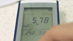 Lcd display of medical device Stock Footage