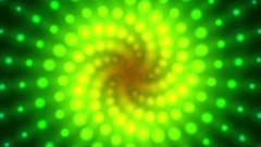 Fibonacci Glow Rose Spiral Pattern Green Yellow Motion Background Loop 2 Stock Footage
