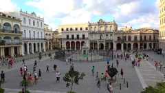 Plaza Vieja in the Old Havana (La Habana Vieja). Cuba Stock Footage