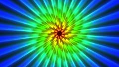 Chromatic Rays Fibonacci Spiral Stars Rays Pattern Motion Background Loop 1 Stock Footage