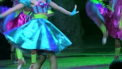 Girl latin dancer at the Tropicana Club. Havana, Cuba Stock Footage