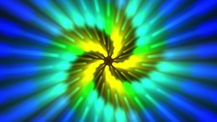 Chromatic Rays Fibonacci Spiral Stars Rays Pattern Motion Background Loop 2 Stock Footage