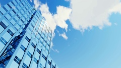 High rise building and time lapse clouds 4K Stock Footage