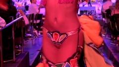 Girl latin dancer at the Tropicana Club. Havana, Cuba Stock Footage