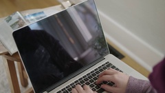 Close up of laptop screen Stock Footage