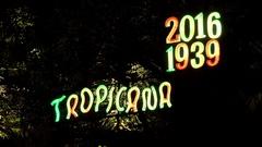 Auditorium of the Tropicana Club. Havana, Cuba Stock Footage