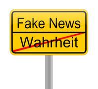 Fake News sign - in german Stock Illustration