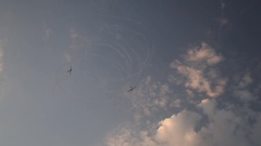 Two gliders performing at Air Show Stock Footage