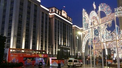 The State Duma in Moscow evening in December  Stock Footage