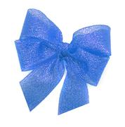 Blue bow on a white background. Stock Photos