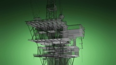 Oil and Gas central processing platform Stock Footage