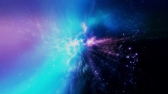 Flying through star fields in space (Loop). Stock Footage