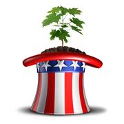 Concept Of American Growth Stock Illustration