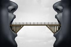 Concept of Building Bridges Stock Illustration