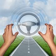 Autonomous Driving Concept Stock Illustration