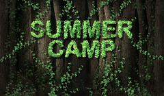 Concept of summer camp Stock Illustration