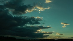 Clouds gradually close themselves the blue sky and bear a bad weather. Stock Footage