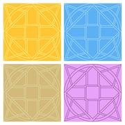 Set of seamless patterns with ornament Stock Illustration