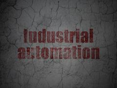 Industry concept: Industrial Automation on grunge wall background Piirros