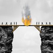 Burning Bridges Concept Stock Illustration