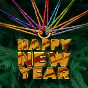 Happy New Year Together Stock Illustration