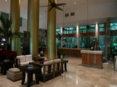 Mexico interior luxury resort front lobby DCI 4K Stock Footage