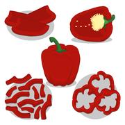 Abstract vector illustration of logo for the theme of pepper Stock Illustration