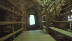 Staircase inside tower Stock Footage