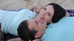 Couple in Love Smiling and Sharing His Emotions Stock Footage