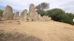 Grave of Giants in Sardinia.  Stock Footage