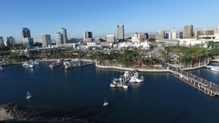 Aerial of Long Beach California United States of America Stock Footage