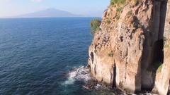 ITALY, Mediterranean Sea, Mount Vesuvius on the horizon Stock Footage